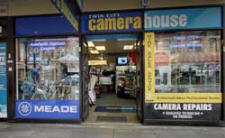 Twin City Camera House is heavily committed to telescopes and binoculars, also trading as Adelaide Optical Centre.
