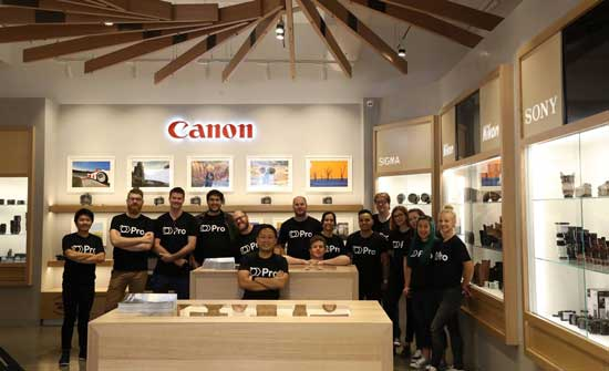 The CameraPro team just prior to the grand opening of the new-look 135 square metre store in Newstead.